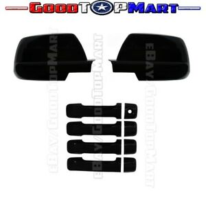 For Toyota Sequoia 2008 2012 2013 2014 2015 2016 Black Full Mirror Handle Covers