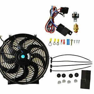 14 Universal Fan Electric Radiator Cooling 12v W Thermostat Relay