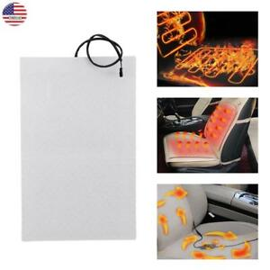 2 4pcs Car Heated Seat Cushion Hot Cover Auto 12v Heater Warmer Pad round Switch