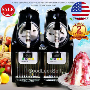 2l 2 300w Mini Margarita Slush Commercial Frozen Drink Slushy Machine Us Fast