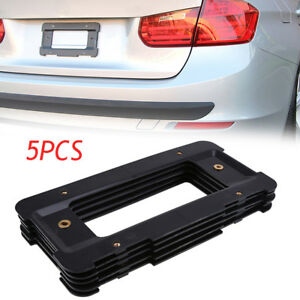 For Bmw 3 Series Rear License Plate Base Mounting Bracket Frame Tag Holder Black
