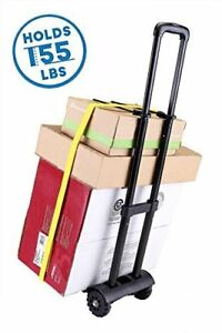 Folding Hand Truck 155 Lbs Heavy Duty 4 wheel Utility Cart Dolly Compact