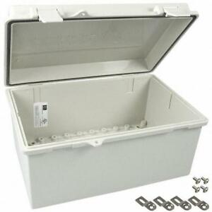 Bud Industries Nbb 10243 Plastic Abs Economy Box With Solid Door 11 28 X 7 48