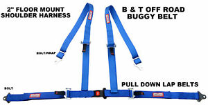 Buggy Seat Belt 4 Point 2 Harness Blue 30 Colors To Choose From
