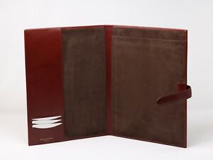 New Aspinal Of London Leather Portfolio Brown A4 Conference Organiser