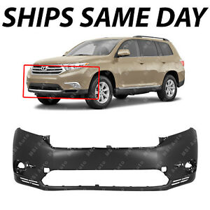 New Primered Front Bumper Cover Fascia Exact Fit For 2011 2013 Toyota Highlander
