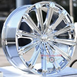 26 Inch Borghini 18 Chrome Wheels And Tires Dodge Ram 5 Lug 5x139 7 5x5 5