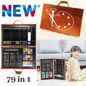 79 Piece Assorted Coloring Pens Stationery Wooden Pencil Painting Packs Art Set