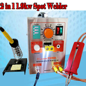 2 In 1 1 9kw Spot Welder With Soldering Iron 220v 709a Battery Welding Machine