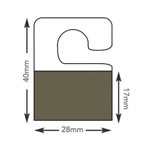Hang Tabs Self Adhesive Clear Sticky Plastic Hanger 4x2 8 Cm 3000 Tabs ht349