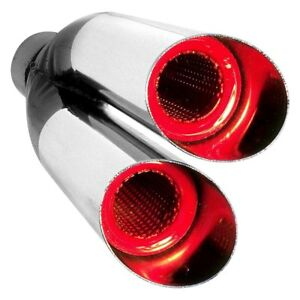 Exhaust Tip Hottip Resonator Style Round Angle Cut Dual Exhaust Tip 2 25 Inlet