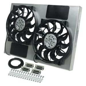 Derale Performance 16826 Dual Electric Radiator Fan W Aluminum Shroud Kit