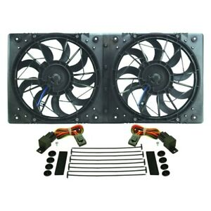 Derale Performance High Output Dual Radiator Electric Fan W Molded Shroud