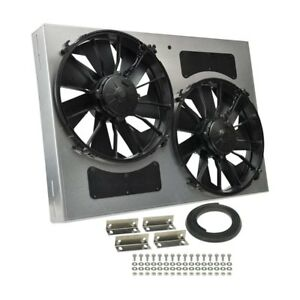 Derale Performance 16842 Dual Electric Radiator Fan W Aluminum Shroud Kit