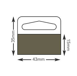 Hang Tabs Self Adhesive Clear Sticky Plastic Hanger 3 5x4 Cm 2000 Tabs ht347hd