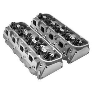 For Chevy Corvette 70 74 Speedmaster As cast Complete Aluminum Cylinder Heads