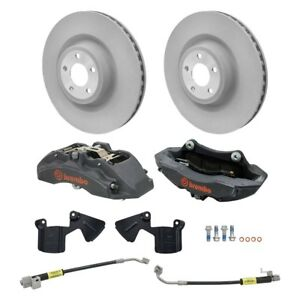 For Ford Mustang 15 17 1 Piece Plain Front Brake Kit W Brembo Calipers