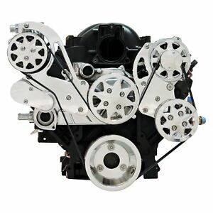 For Chevy Camaro 93 18 All American Billet Front Serpentine Belt Drive System