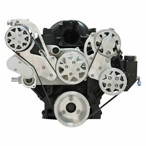 For Chevy Silverado 3500 01 13 Front Serpentine Machined Belt Drive System