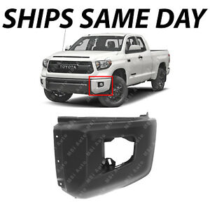 New Primered Drivers Left Lh Front Bumper Cover End For 2014 2019 Tundra Pickup