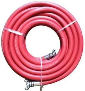 50 Feet Red Universal Jackhammer Rubber Synthetic Air Hose Abrasion Resistant