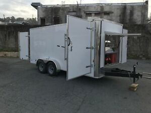 Hot Water Pressure Washer Enclosed Trailer Mounted 8gpm 4000psi honda Gx690