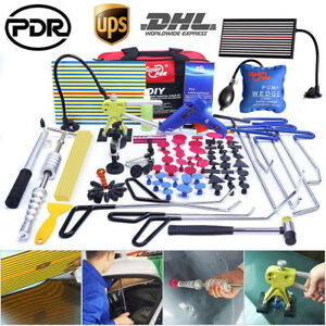 Us 110 Pdr Rod Tools Paintless Dent Repair Dent Lifter T bar Hammer Removal Kit