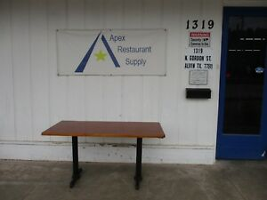 Restaurant Table 60x30 Wood Top Great Condition 3606