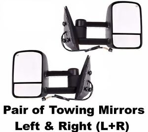 Chevy Avalanche 03 04 05 06 Power Heated Telescopic Tow Mirror New