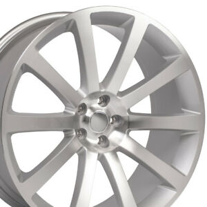 22 Rims Fit Dodge Chrysler 300 Srt Magnum Silver Mach D Wheels 2253