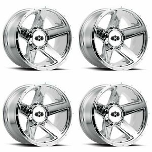 4x Vision 20 390 Empire Wheels Chrome 20x11 5 5x4 5 5x114 3 5x5 5x127 44mm