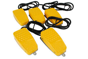 5 Pcs Temco Aluminum Foot Switch 10a Spdt Nonc Electric Pedal Momentary New Lot