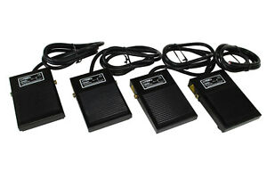 4 Pcs Temco Foot Switch Spdt No Nc Electric Power Pedal Momentary New Cnc Lot