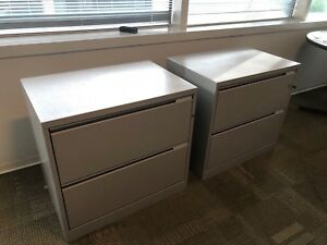2 Drawer Lateral Size File Cabinet By Herman Miller Meridian W lock