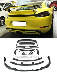 Bodykit For Porsche Boxster Cayman 718 982 Front Lip Diffuser Gt Wing