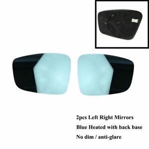 Pair Blue Heated Rearview Wing Mirror Glass For Usa Ca Vw Jetta Mk6 12 18 Passat