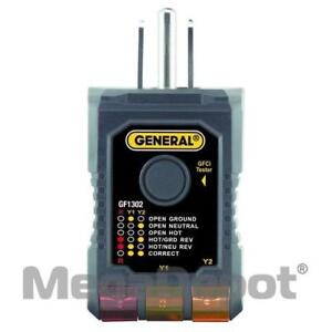 General Tools Gf1302 3 wire Gfci Receptacle Tester