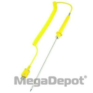 General Tools Tpk05 Type k Piercing Thermocouple Probe With Extendable Cord