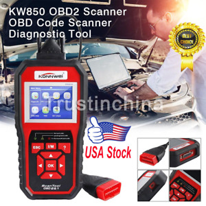 Obd2 Automotive Code Scanner Car Diagnostic Tool Multi languages Konnwei Kw850