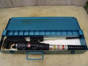 Huskie Hydraulic Cable Wire Crimper Ep 510 Uses Burndy Dies Great Shape 4