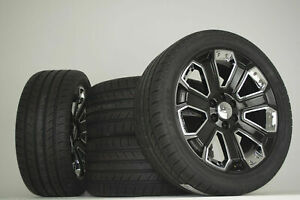 2018 Gmc Yukon Denali Sierra Black Chevy Silverado Tahoe Wheels Rims Tires Ck190
