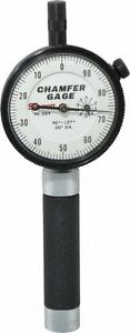 Starrett 0 To 3 8 Inch 90 To 127 deg Included Angle Internal Chamfer Gage