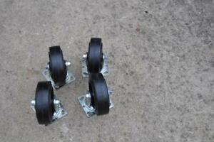 Durable Superior 27rs60jb0417yy 6 x2 Swivel Wheel Caster 550lbs Ea New Lot Of 4