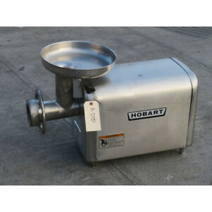 Hobart 4822 Meat Grinder 1 5 Hp Used Great Condition