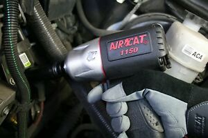 Aircat 1150 Killer Torque 1 2 inch Air Tool Impact Wrench Light Weight Black