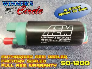 Aem 50 1200 340lph E85 Compatible High Flow In Tank Fuel Pumps Offset Inlet