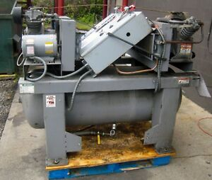 Ingersoll Rand Duplex 2 2475e5 5hp Air Compressor 120 Gallon Tank