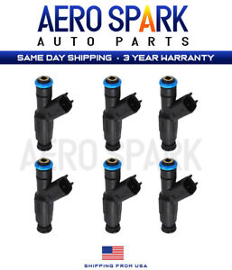 Set Of 6 Upgrade Fuel Injectors For 1996 1998 Jeep Cherokee 4 0l 81212128 Us