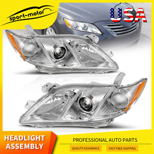 Headlights Assembly For 2007 2009 Toyota Camry Projector Headlamps Replacement