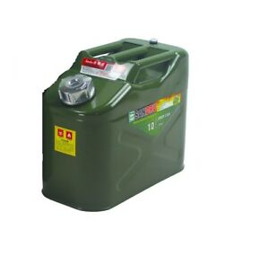 2 5gallon 10l Steel Heavy Duty Fuel Pack Gas Container Fuel Can For Motorvehicle